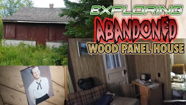 abandoned wood panel house